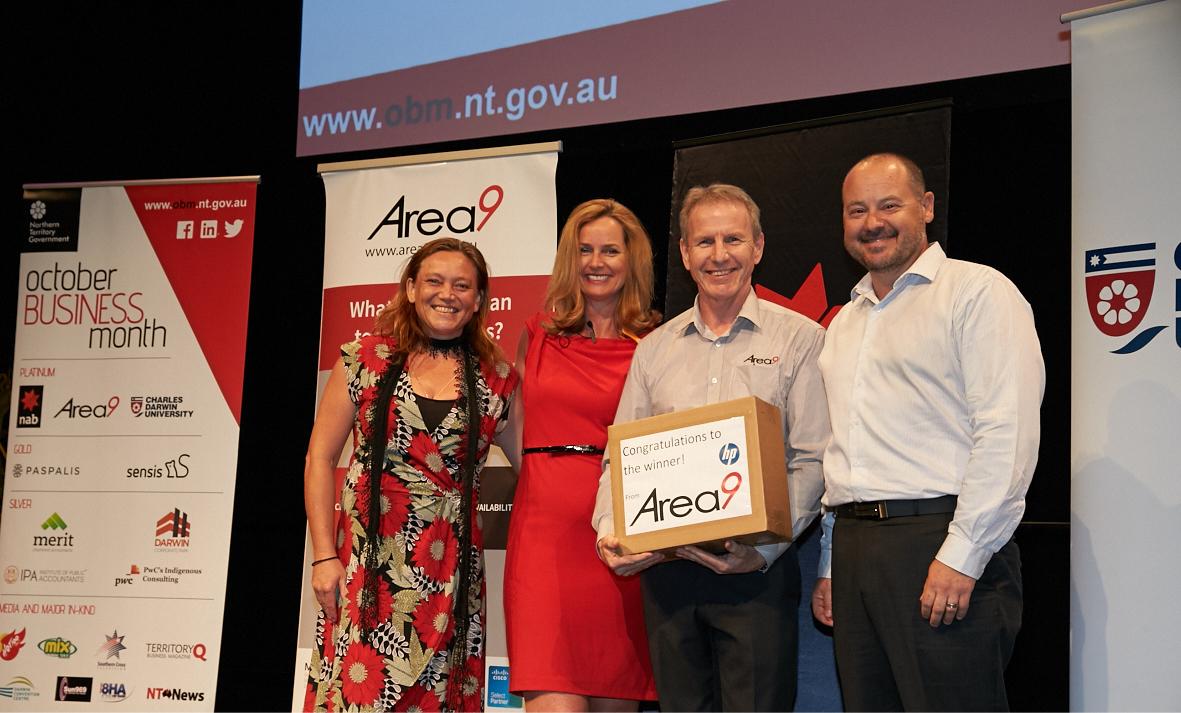 Area9 Prize Winner - Caz Coleman with Area9 & HP