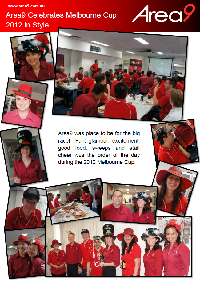 Area9 Celebrates 2012 Melbourne Cup in Style!