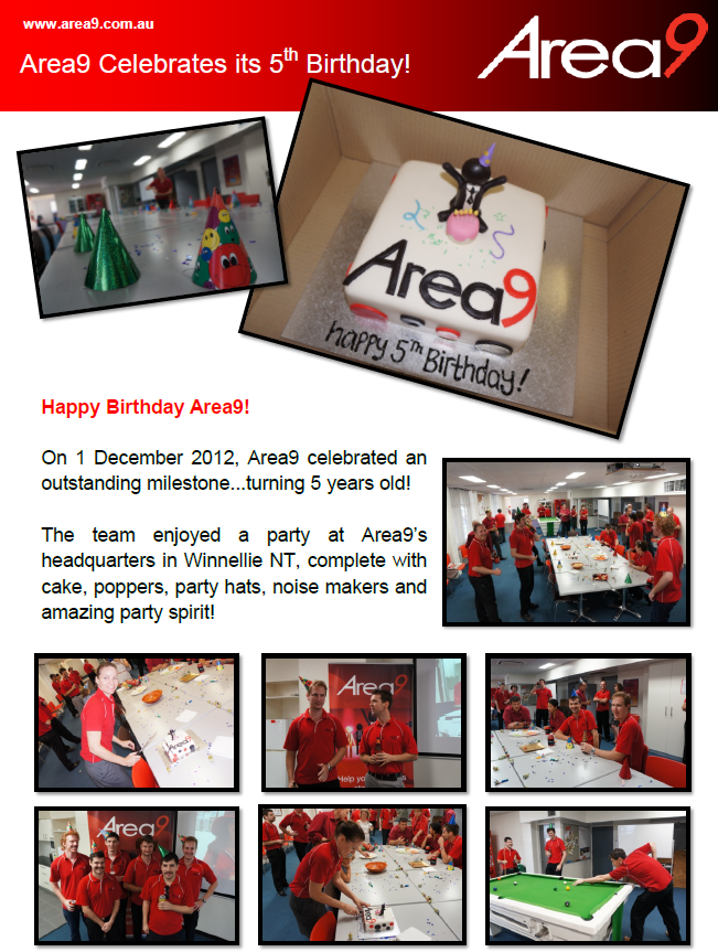 Area9 Celebrates its 5th Birthday