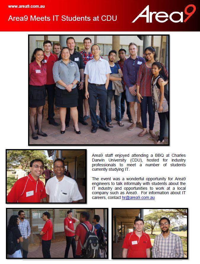 Area9 Meets IT Students at Charles Darwin University